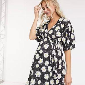 ASOS Maternity Daisy Wrap Dress size 16